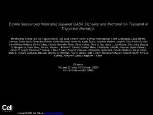 Exome Sequencing Implicates Impaired GABA Signaling and Neuronal