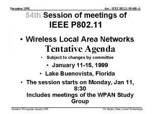 December 1998 doc IEEE 802 11 98408 r