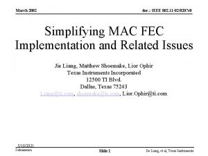 March 2002 doc IEEE 802 11 020207 r