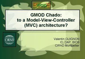 GMOD Chado to a ModelViewController MVC architecture Valentin