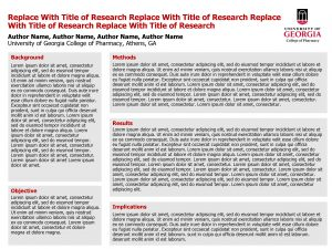 Replace With Title of Research Author Name Author