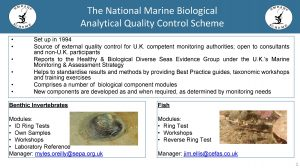 The National Marine Biological Analytical Quality Control Scheme