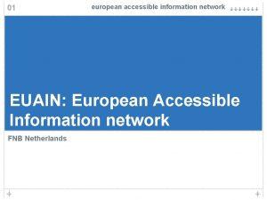 01 european accessible information network EUAIN European Accessible
