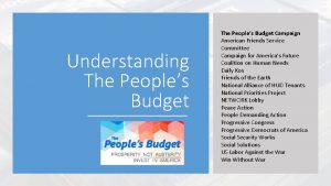 Understanding The Peoples Budget Campaign American Friends Service