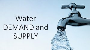 Water DEMAND and SUPPLY DEMAND Global demand in