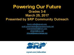 Powering Our Future Grades 3 6 March 25