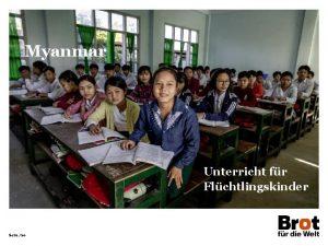 Myanmar Unterricht fr Flchtlingskinder Seite 20 Myanmar INDIEN