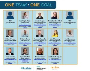 ONE TEAM ONE GOAL TBD HPE Team Manager