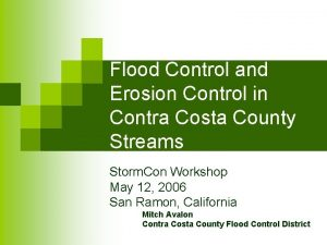 Flood Control and Erosion Control in Contra Costa