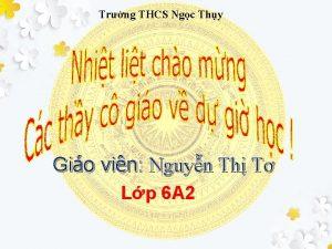 Trng THCS Ngc Thy Gio vin Nguyn Th