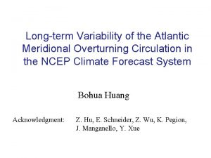 Longterm Variability of the Atlantic Meridional Overturning Circulation