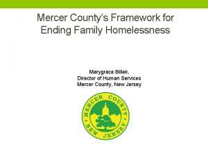 Mercer Countys Framework for Ending Family Homelessness Marygrace