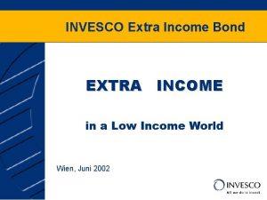 INVESCO Extra Income Bond EXTRA INCOME in a