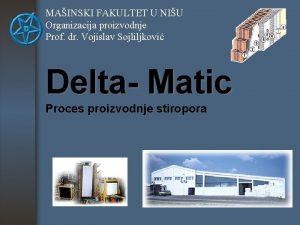 MAINSKI FAKULTET U NIU Organizacija proizvodnje Prof dr