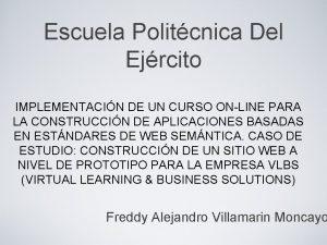 Escuela Politcnica Del Ejrcito IMPLEMENTACIN DE UN CURSO