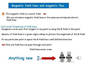 Magnetic field lines and magnetic flux The magnetic