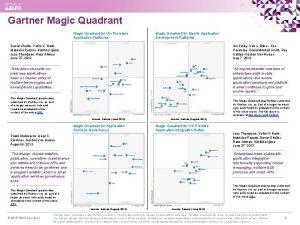 Gartner Magic Quadrant for OnPremises Application Platforms Magic