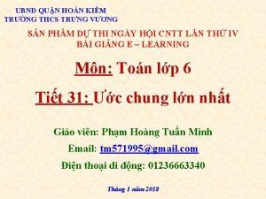UBND QUN HON KIM TRNG THCS TRNG VNG