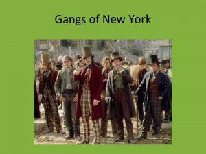 Gangs of New York New York City 5