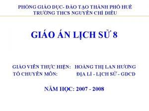 PHNG GIO DC O TO THNH PH HU