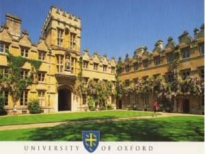 The University of Oxford The University of Oxford