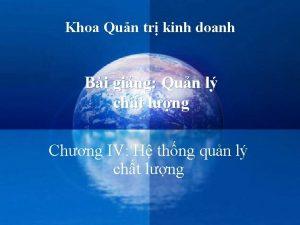Khoa Qun tr kinh doanh Bi ging Qun