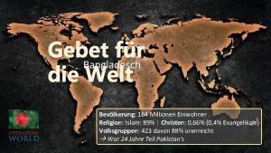 Gebet fr Bangladesch die Welt Bevlkerung 164 Millionen