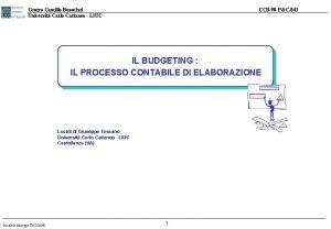 Centro Camillo Bussolati Universit Carlo Cattaneo LIUC CCB98