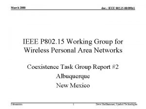 March 2000 doc IEEE 802 15 00090 r