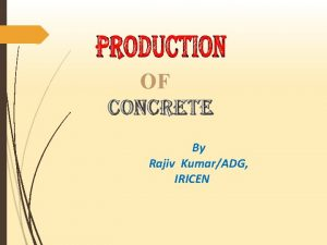OF By Rajiv KumarADG IRICEN Reference Codes IS