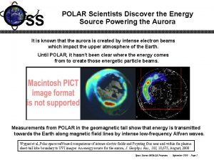 SS POLAR Scientists Discover the Energy Source Powering