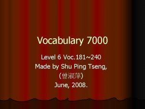 Vocabulary 7000 Level 6 Voc 181240 Made by