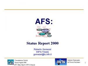 AFS pi infn it INFN IT AFS cell