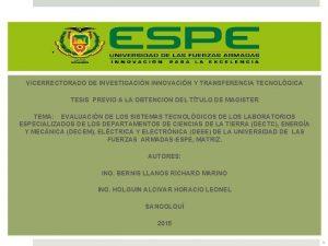 VICERRECTORADO DE INVESTIGACIN INNOVACIN Y TRANSFERENCIA TECNOLGICA TESIS
