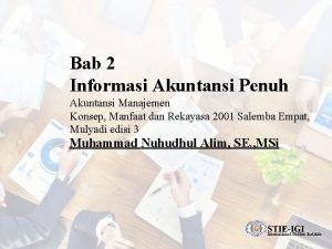 Bab 2 Informasi Akuntansi Penuh Akuntansi Manajemen Konsep