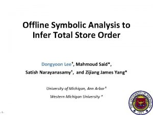 Offline Symbolic Analysis to Infer Total Store Order