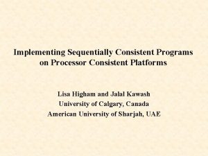 Implementing Sequentially Consistent Programs on Processor Consistent Platforms