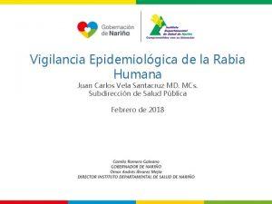 Vigilancia Epidemiolgica de la Rabia Humana Juan Carlos