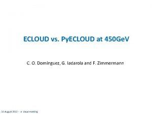 ECLOUD vs Py ECLOUD at 450 Ge V