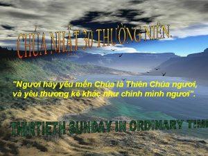 Ngi hy yu mn Cha l Thin Cha