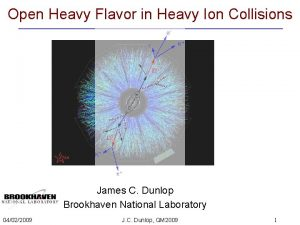 Open Heavy Flavor in Heavy Ion Collisions James