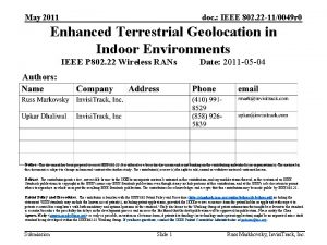 May 2011 doc IEEE 802 22 110049 r