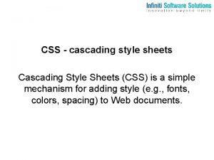CSS cascading style sheets Cascading Style Sheets CSS
