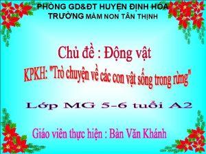 PHNG GDT HUYN NH HA TRNG MM NON