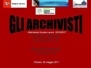 Alternanza ScuolaLavoro 20162017 Tommaso Marconi Liceo Machiavelli 4