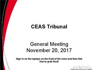 CEAS Tribunal General Meeting November 20 2017 Sign