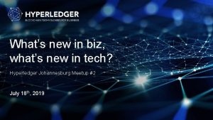 Whats new in biz whats new in tech