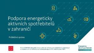Podpora energeticky aktivnch spotebitel v zahrani Prbn zprva