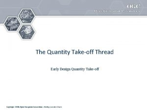 The Quantity Takeoff Thread Early Design Quantity Takeoff