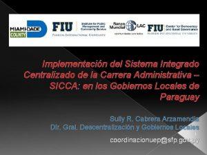 Implementacin del Sistema Integrado Centralizado de la Carrera
